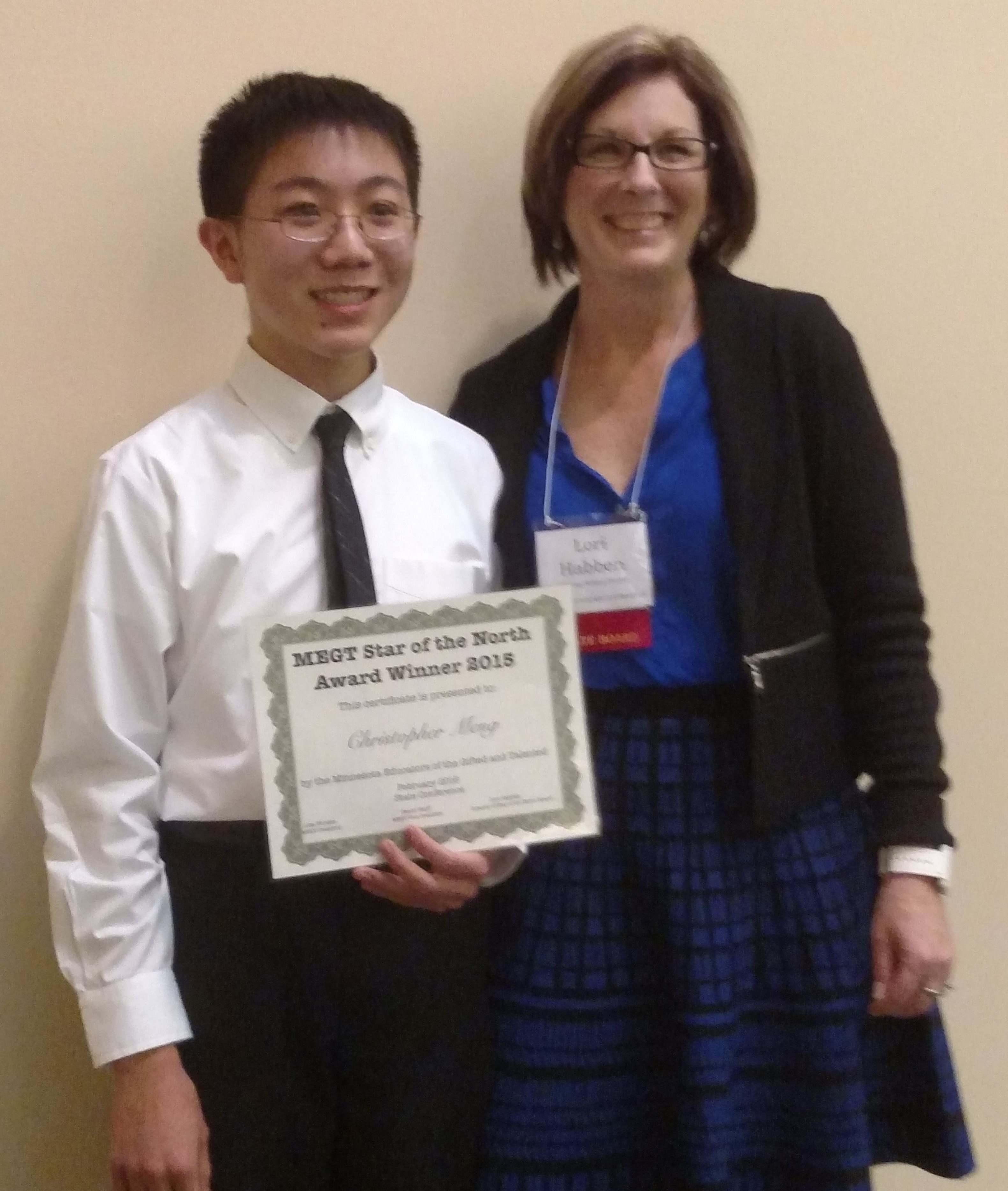 Christopher Meng, 2016 MEGT Star of the North Award Recipient